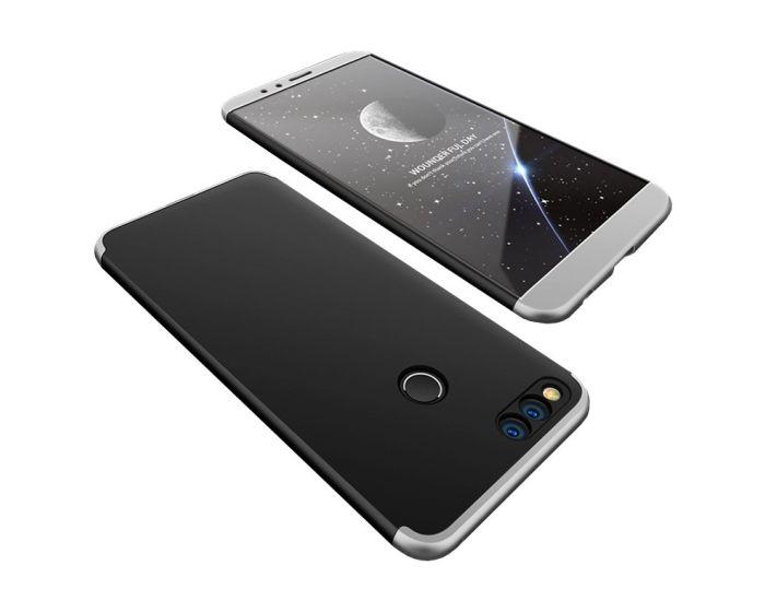 GKK Luxury 360° Full Cover Case Black / Silver (Huawei Honor 7X)