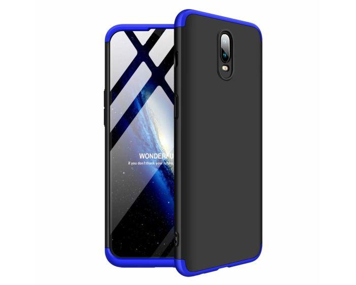 GKK Luxury 360° Full Cover Case Black / Blue (OnePlus 6T)