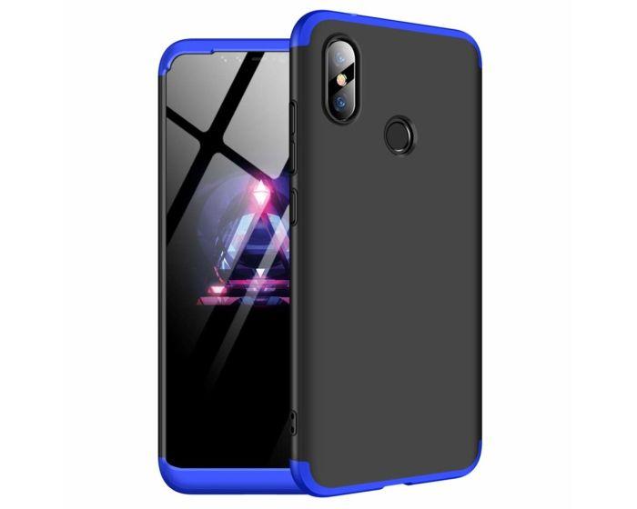 GKK Luxury 360° Full Cover Case Black / Blue (Xiaomi Redmi Note 6 Pro)