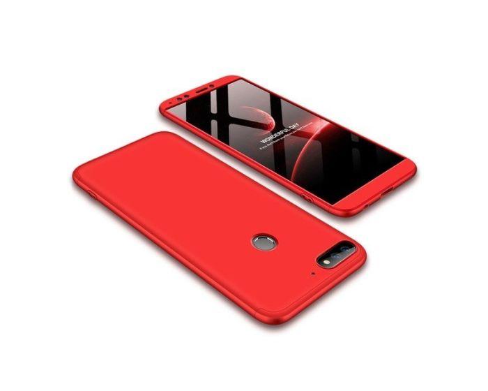GKK Luxury 360° Full Cover Case Red (Huawei Y7 Prime 2018)
