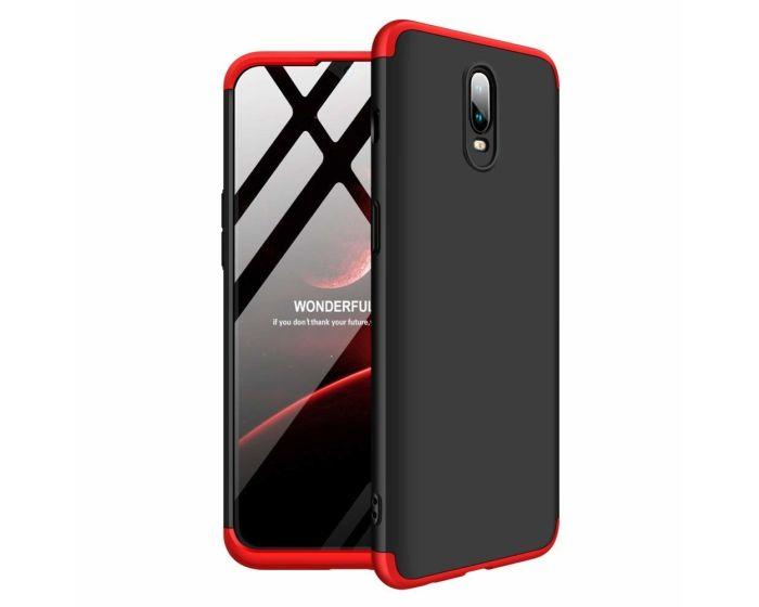 GKK Luxury 360° Full Cover Case Black / Red (OnePlus 6T)