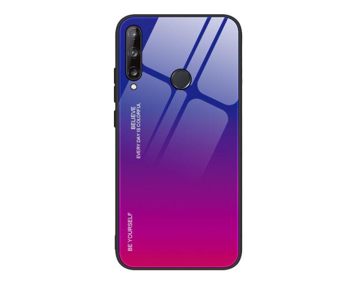 Glass Gradient TPU Case Blue / Rose (Huawei P40 Lite E)