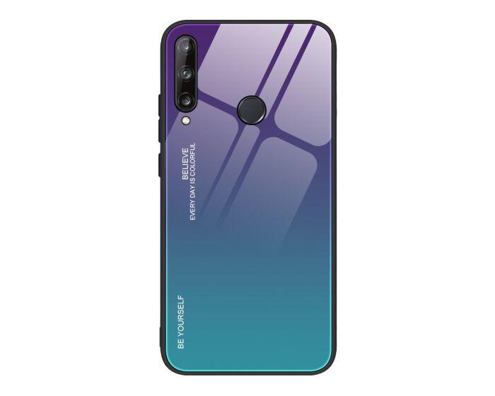 Glass Gradient TPU Case Purple / Green (Huawei P40 Lite E)