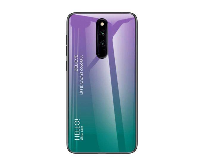 Glass Gradient TPU Case Purple / Green (Xiaomi Redmi 8)