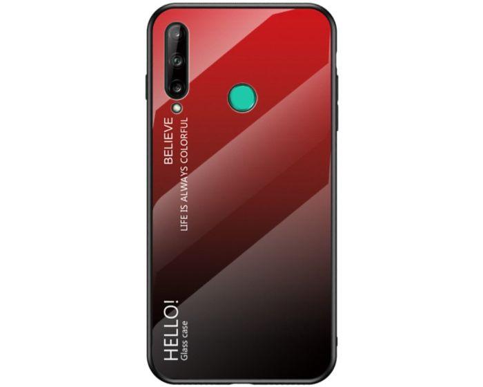Glass Gradient TPU Case Red / Black (Huawei P40 Lite E)