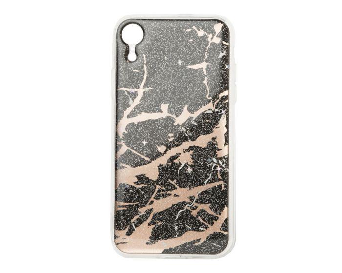 Glitter Marble TPU Gel Case Θήκη Σιλικόνης Black (iPhone XR)