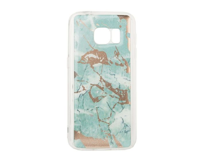 Glitter Marble TPU Gel Case Θήκη Σιλικόνης Green (Samsung Galaxy S7)