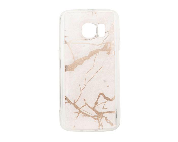 Glitter Marble TPU Gel Case Θήκη Σιλικόνης Pink (Samsung Galaxy S7)