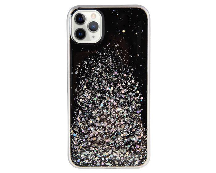 Glue Glitter TPU Case Θήκη με Χρυσόσκονη Black (Samsung Galaxy S20 Plus)