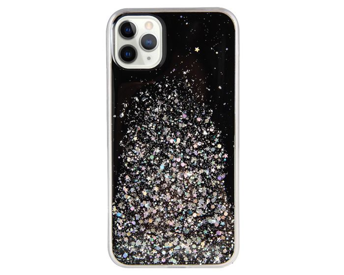 Glue Glitter TPU Case Θήκη με Χρυσόσκονη Black (Samsung Galaxy Note 10 Lite)