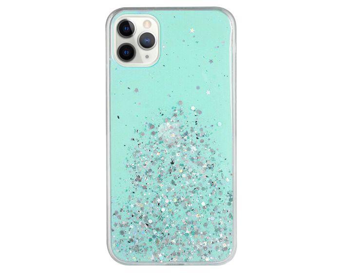 Glue Glitter TPU Case Θήκη με Χρυσόσκονη Green (Samsung Galaxy Note 10 Lite)