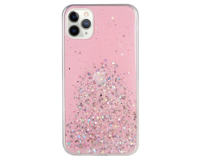 Glue Glitter TPU Case Θήκη με Χρυσόσκονη Pink (Samsung Galaxy Note 10 Lite)