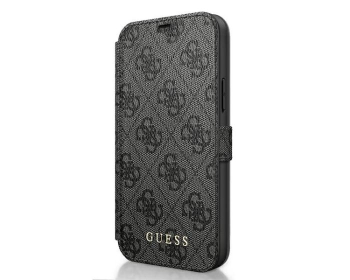 Guess 4G Charms Collection Wallet Case Θήκη Πορτοφόλι - Grey (iPhone 12 Pro Max)