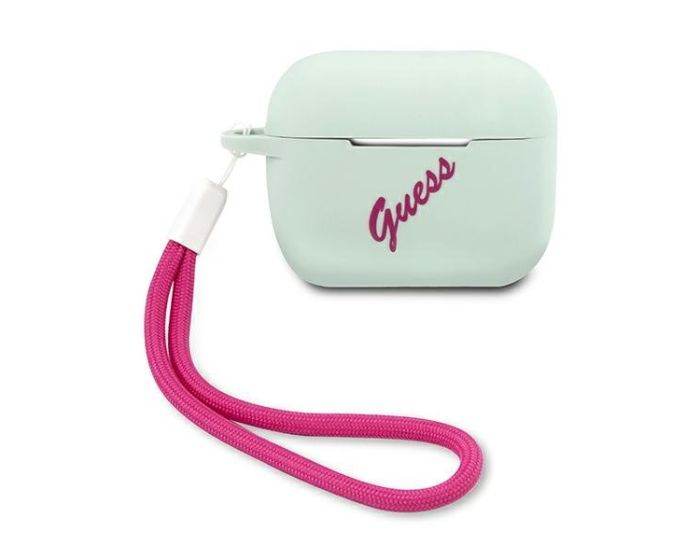 Guess Silicone Vintage Protective Case για τα Apple AirPods Pro - Blue / Fuchsia