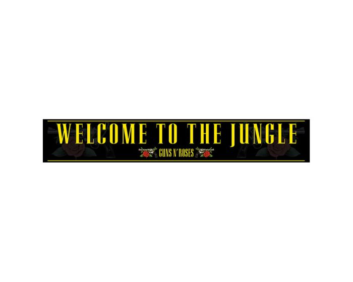 Guns N' Roses (Welcome to the Jungle) Wooden Sign - Ξύλινη Ταμπέλα Διακόσμησης 13x80cm