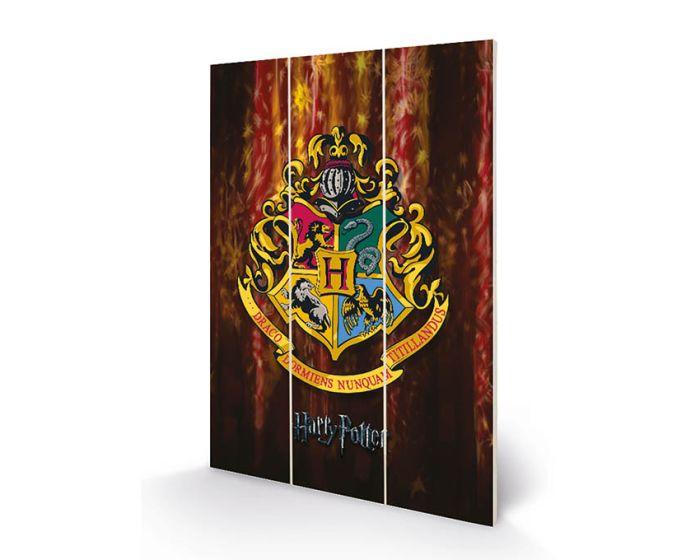 Harry Potter (Hogwarts Crest) Wood Print - Ξύλινη Ταμπέλα Διακόσμησης 20x29.5cm