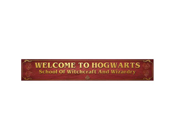Harry Potter (Welcome to Hogwarts) Wooden Sign - Ξύλινη Ταμπέλα Διακόσμησης 13x80cm