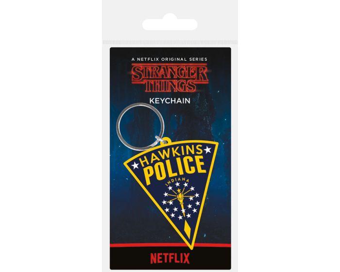 Stranger Things (Hawkins Police Patch) Rubber Keychain - Μπρελόκ