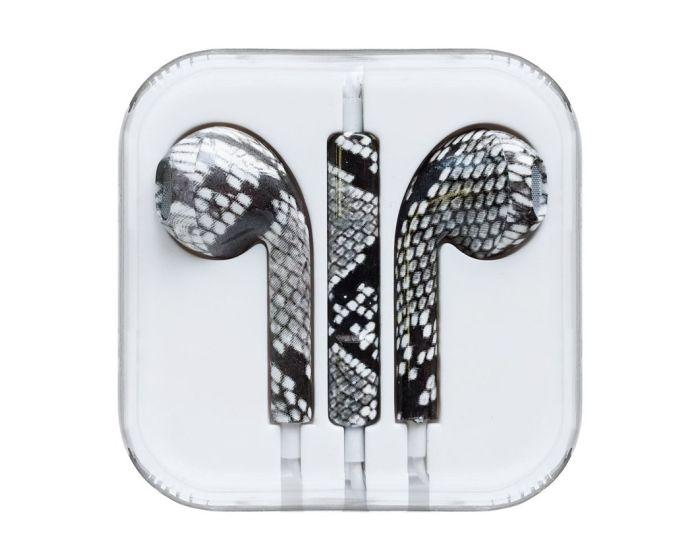 Headphones with Microphone Ακουστικά 3.5mm για iPhone / iPad / iPod - Snake Green