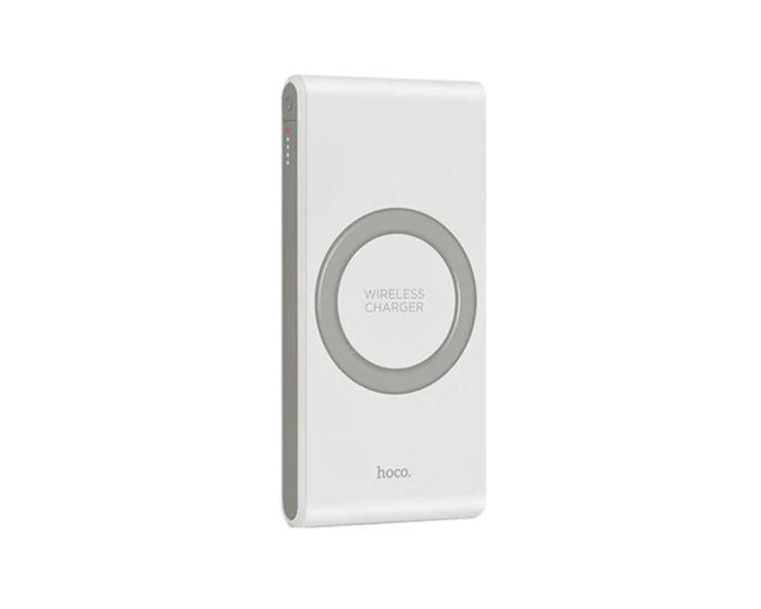HOCO B32 Energetic Wireless Power Bank White – 8000mAh