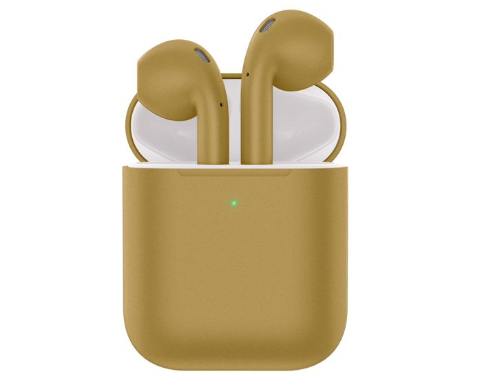 HOCO ES32 Plus Original TWS Wireless Bluetooth Stereo Earbuds + Red Silicone Case - Gold