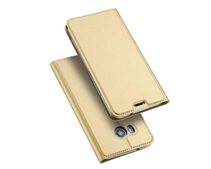 DUX DUCIS SkinPro Wallet Case Θήκη Πορτοφόλι με Δυνατότητα Stand - Gold (HTC U11)