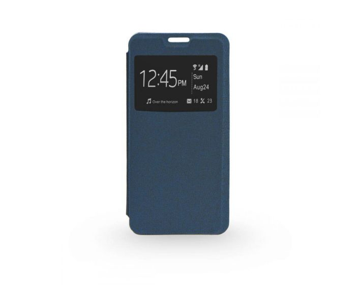 Forcell S View Flexi Flip Case - Navy Blue (Huawei Ascend P8)