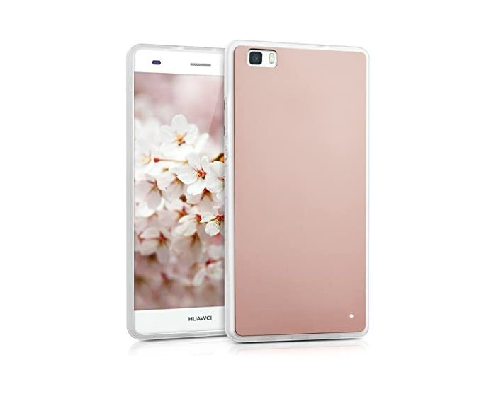 Forcell Mirror Slim Fit Gel Case Θήκη Σιλικόνης Rose Gold (Huawei Ascend P8)