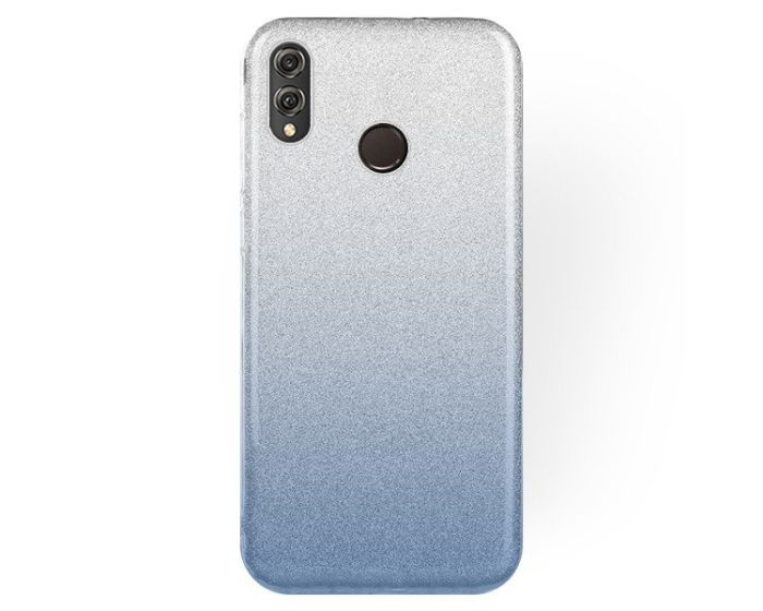 Forcell Glitter Shine Cover Hard Case Clear / Blue (Huawei Honor 8X)
