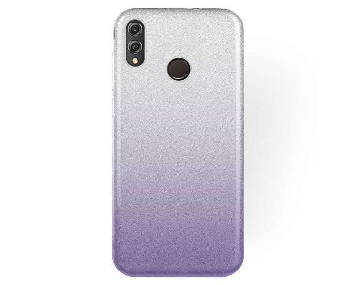 Forcell Glitter Shine Cover Hard Case Clear / Violet (Huawei Honor 8X)
