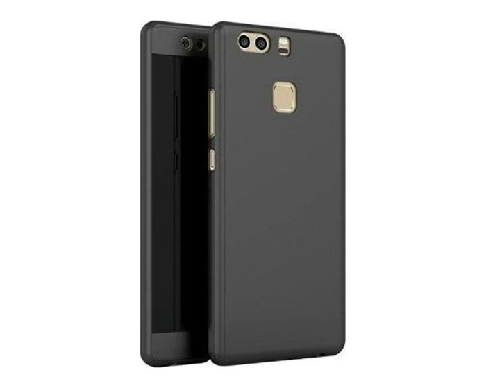 360 Full Cover Case & Tempered Glass - Black (Huawei Honor 9)