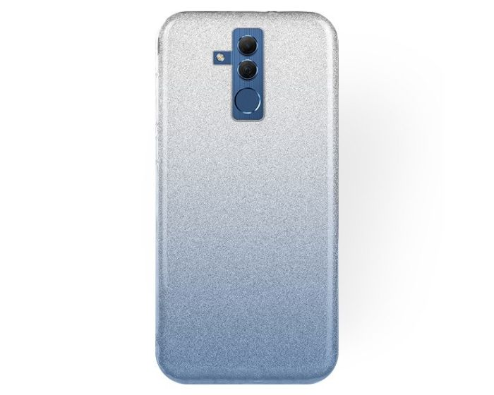Forcell Glitter Shine Cover Hard Case Clear / Blue (Huawei Mate 20 Lite)