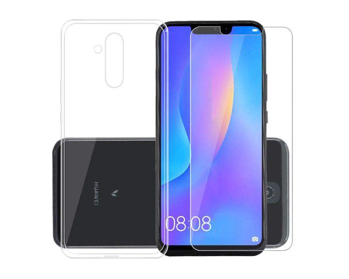 TPU Ultra Slim Case & Tempered Glass - Διάφανο (Huawei Mate 20 Lite)