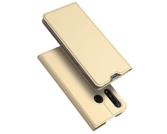 DUX DUCIS SkinPro Wallet Case Θήκη Πορτοφόλι με Stand - Gold (Huawei Nova 4)