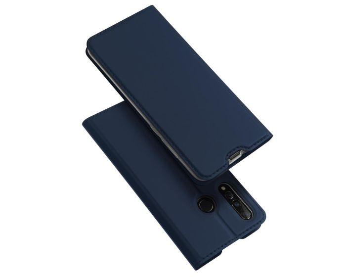 DUX DUCIS SkinPro Wallet Case Θήκη Πορτοφόλι με Stand - Navy Blue (Huawei Nova 4)