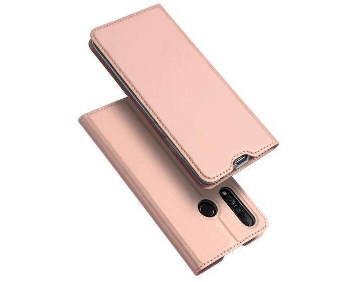 DUX DUCIS SkinPro Wallet Case Θήκη Πορτοφόλι με Stand - Rose Gold (Huawei Nova 4)