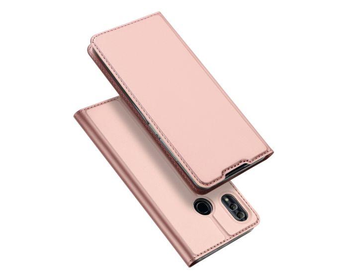 DUX DUCIS SkinPro Wallet Case Stand Θήκη Πορτοφόλι - Rose Gold (Huawei P Smart 2019 / Honor 10 Lite)