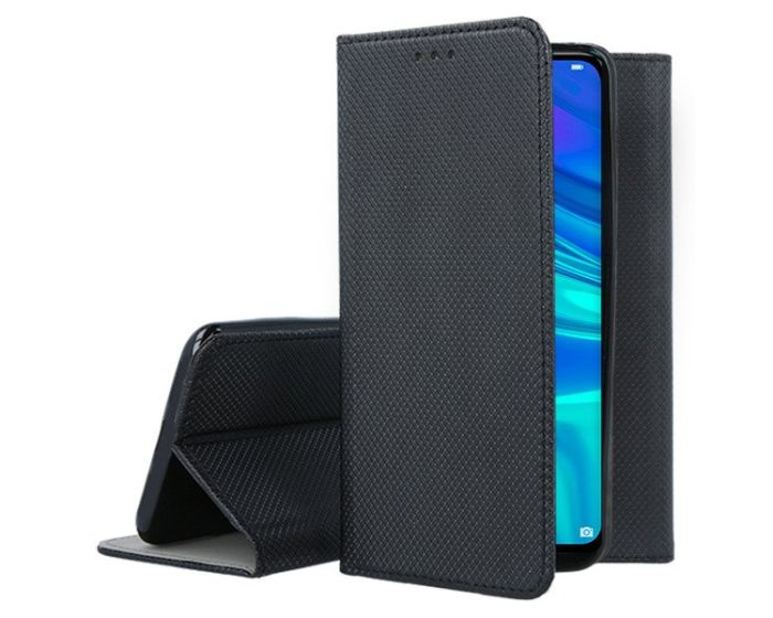 Forcell Smart Book Case με Δυνατότητα Stand Θήκη Πορτοφόλι Black (Huawei P Smart 2019 / Honor 10 Lite)