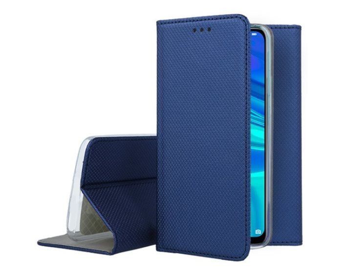 Forcell Smart Book Case με Δυνατότητα Stand Θήκη Πορτοφόλι Navy Blue (Huawei P Smart 2019 / Honor 10 Lite)