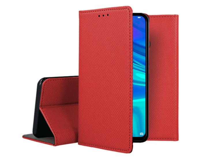 Forcell Smart Book Case με Δυνατότητα Stand Θήκη Πορτοφόλι Red (Huawei P Smart 2019 / Honor 10 Lite)