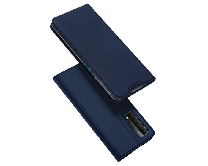 DUX DUCIS SkinPro Wallet Case Θήκη Πορτοφόλι με Stand - Blue (Huawei P Smart 2021)