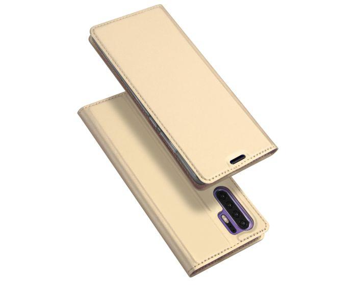 DUX DUCIS SkinPro Wallet Case Θήκη Πορτοφόλι με Stand - Gold (Huawei P30 Pro)