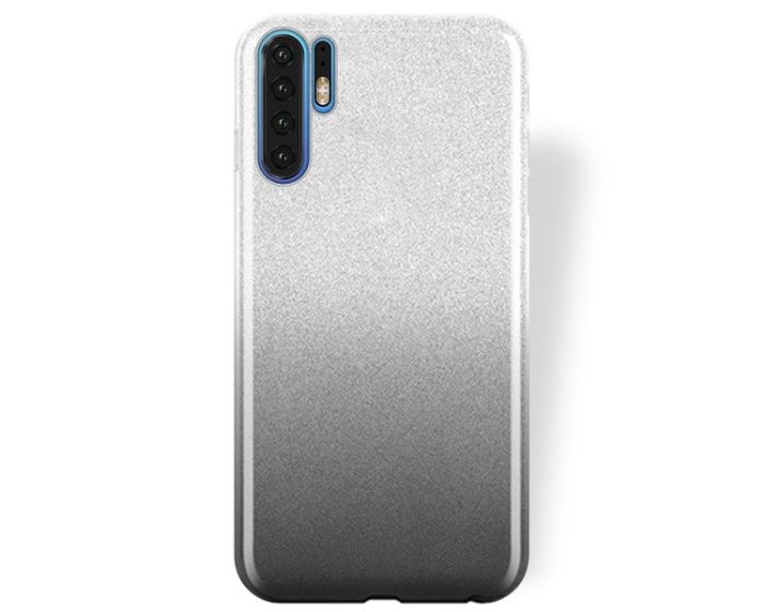 Forcell Glitter Shine Cover Hard Case Clear / Black (Huawei P30 Pro)