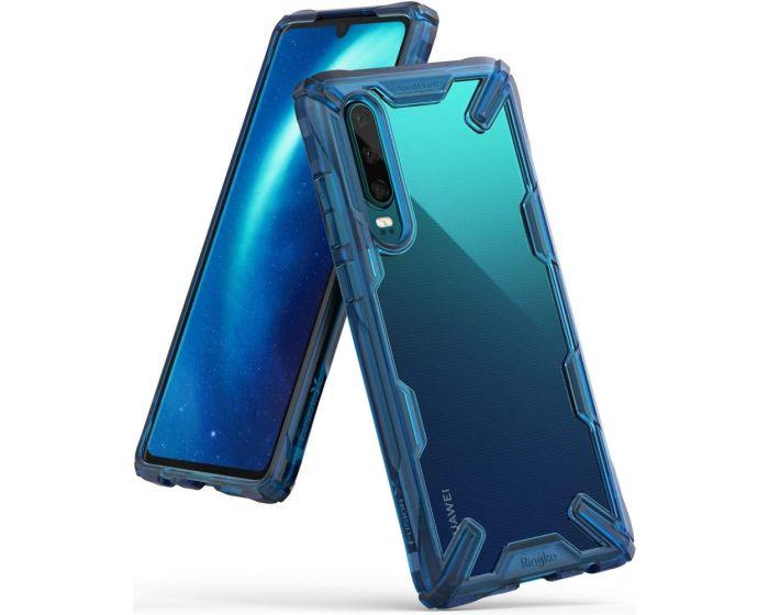 Ringke Fusion-X Σκληρή Θήκη με TPU Bumper Space Blue (Huawei P30)