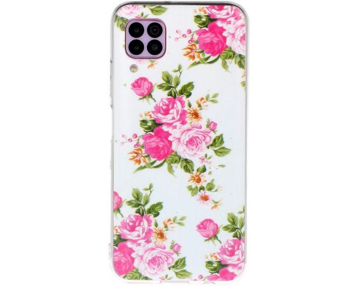 IMD Luminous Case Blooming Flowers Θήκη Σιλικόνης (Huawei P40 Lite)