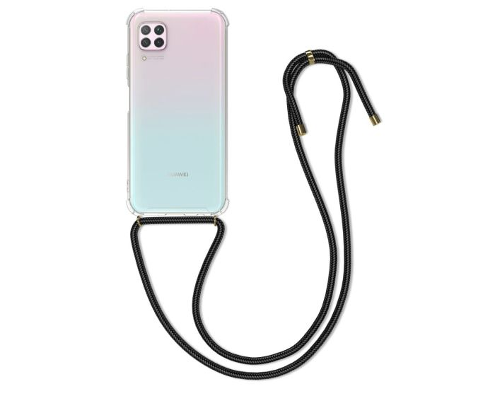 KWmobile Crossbody Silicone Case with Neck Cord Lanyard Strap (51847.03) Διάφανη (Huawei P40 Lite)