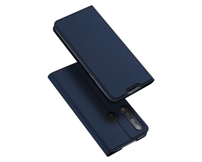 DUX DUCIS SkinPro Wallet Case Θήκη Πορτοφόλι με Stand - Navy Blue (Huawei P40 Lite E)