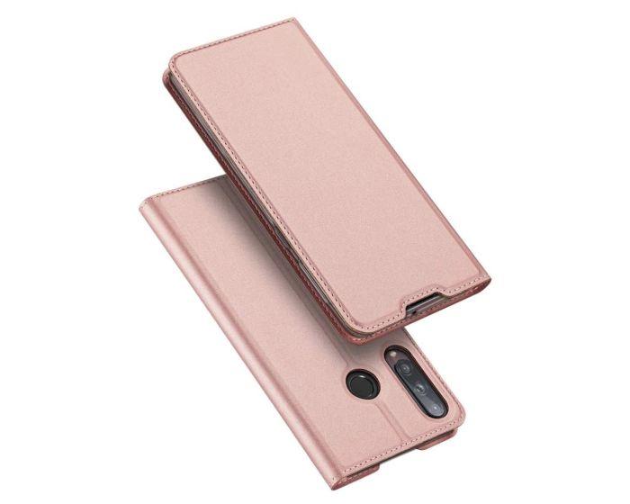 DUX DUCIS SkinPro Wallet Case Θήκη Πορτοφόλι με Stand - Rose Gold (Huawei P40 Lite E)