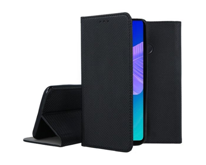 Forcell Smart Book Case με Δυνατότητα Stand Θήκη Πορτοφόλι Black (Huawei P40 Lite E)