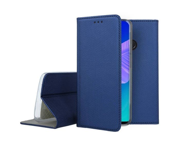 Forcell Smart Book Case με Δυνατότητα Stand Θήκη Πορτοφόλι Navy Blue (Huawei P40 Lite E)
